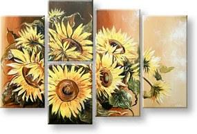 Ručne maľovaný obraz na stenu KVETY FB240E5