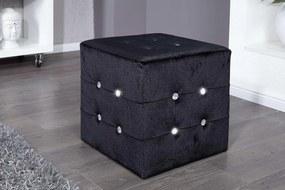 Taburetka Jewelry čierna