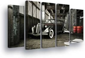 GLIX Obraz na plátne - Black and White Veteran 2 x 30x80 / 3 x 30x100 cm