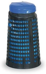 Artplast Plastový odpadkový kôš na 120 L vrecia, čierny, modrý vrchnák