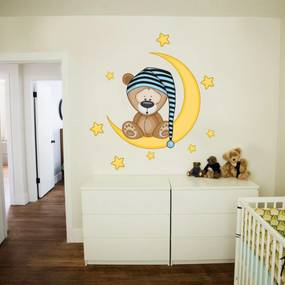 Dekorácia na stenu Deluxe - spinkáčik 70x50 modrá pre chlapcov