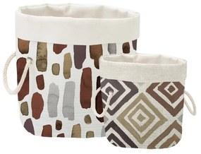 Súprava 2 ks dekoratívnych košov Linen Couture Watercolor Geometric