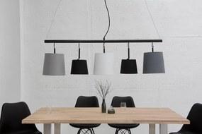 Závesné svietidlo Shadow 100 cm sivé