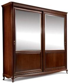 TARANKO Verona V-2DP rustikálna šatníková skriňa s posuvnými dverami hnedá