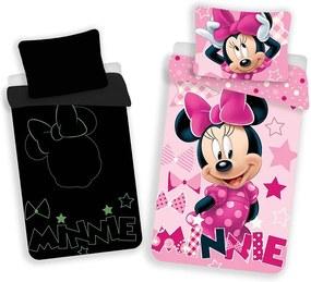 JERRY FABRICS Obliečky Minnie svietiace v tme Bavlna 140/200, 70/90 cm