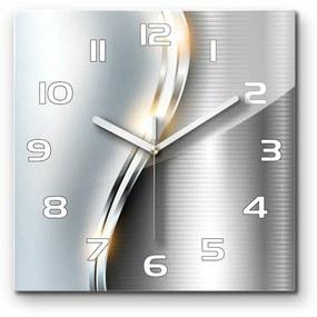 Sklenené hodiny štvorec Metalová abstrakcie pl_zsk_30x30_s_97731386