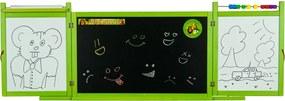 Detská magnetická / kriedová tabuľa na stenu - zelená zelená TS3