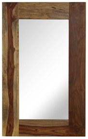 vidaXL Zrkadlo z masívneho sheeshamového dreva 50x80 cm