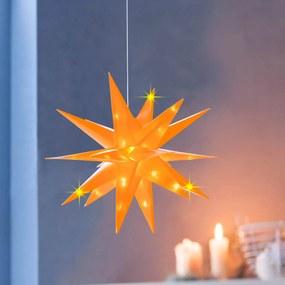 LED Hviezda Xmas, žltá