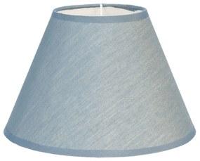 Textilné lampové tienidlo v modrej farbe Couleurs - Ø 19 * 12 cm