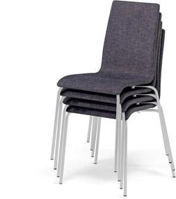 Konferenčná stolička Moncton, 4 ks v balení, tmavo šedá, šedá