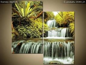 Tlačený obraz Vodopád v prírode 60x60cm 2538A_2A