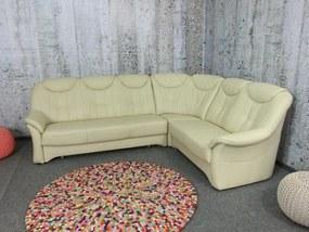 (2613) SANTE rohová kožená sedačka creme