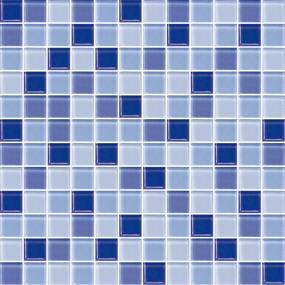 Sklenená mozaika Premium Mosaic modrá 30x30 cm lesk MOS25MIX5