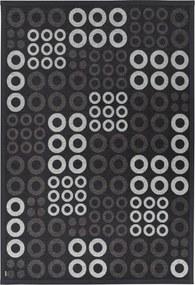 Antracitovosivý vzorovaný obojstranný koberec Narma Kupa, 70 × 140 cm