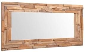 vidaXL Dekoratívne zrkadlo, teakové drevo 120x60 cm, obdĺžnikové
