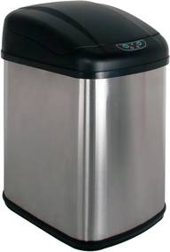 Bezdoteku Bezdotykový odpadkový kôš HOME nerezový hranatý senzorový 30L