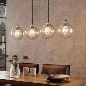 Lindby Odila závesná lampa, 4 sklenené gule dymová