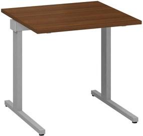 Kancelársky písací stôl CLASSIC C, 800 x 800 mm, dezén orech