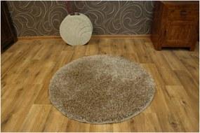 Kusový koberec Shaggy Narin béžový kruh, Velikosti 100cm