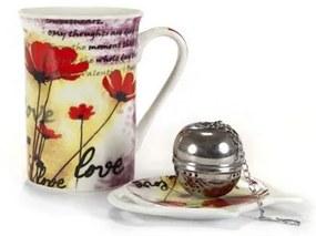 BANQUET 3d čajová sada Poppy, OK 60HM08020
