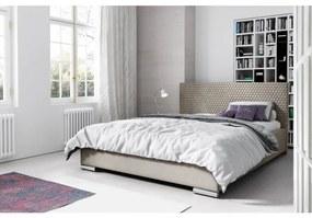Elegantná čalúnená posteľ Champ 120x200, béžová