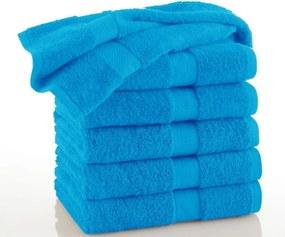 Měkký froté ručník Piruu 50x100 cm, 500 g/m² - Modrá