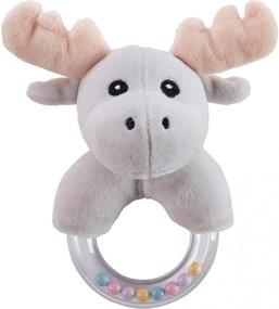 Kids Concept Detská hrkálka s hryzadlom Little Moose