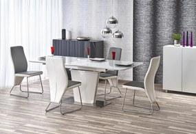 Jedálenský stôl rozkladací PLATON biely Halmar