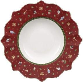 Červený hlboký tanier 26 cm Toy's Delight