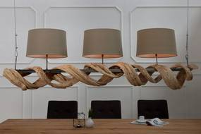 Závesná lampa Vigine 160 cm recyklované drevo