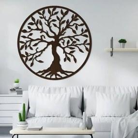 Drevený strom života na stenu - Yesod