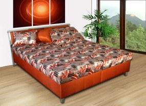 Čalúnená posteľ s úložným priestorom Sabina Barva: skořicová