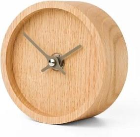 CLOCKIES WOOD stolové hodiny svetlý dub
