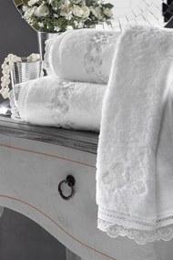 Soft Cotton Darčekové balenie uterákov a osušiek LUNA Biela