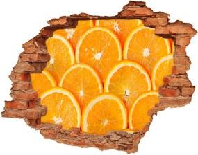 Samolepiaca nálepka Plátky pomaranča WallHole-cegla-90x70-82047146