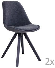 Sada 2 sivých jedálenských stoličiek House Nordic Bergen a036a0b816