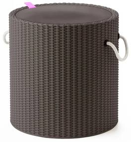Keter Chladiaca stolička s lanovými uškami, sivohnedá 219430