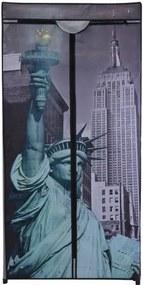 Textilná šatníková skriňa 75 x 160 x 45 cm, New York
