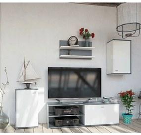 Obývacia stena, grafit/biela, KARSTEN