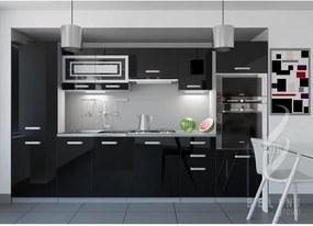 Moderná sektorová kuchyňa čierna Syka 300 cm