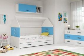 Domčeková posteľ DOMI 160x80cm - Biela - Modrá