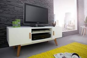 TV-stolík Scandinavia biely 120cm