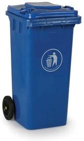 Plastová popolnica 120 litrov, modrá