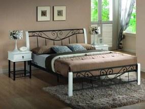Signal Manželská posteľ PARMA 160 biela/čierna