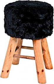 Stolička Nova I., 45 cm, masív/čierna