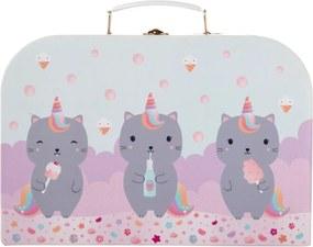 Sass & Belle Kartónový kufrík s mačičkou Caticorn - najväčší