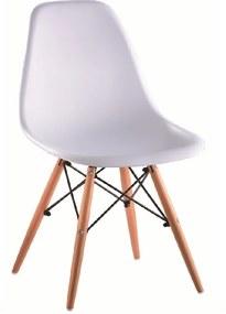 Stolička, biela/buk, CINKLA 2 NEW