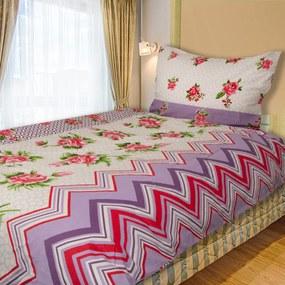 HOD Obliečky DONA ruža fialová Flanel 70x90 140x200 cm