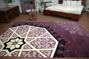 3kraft Kusový koberec FLORYA Atalia fialový